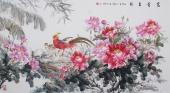 著名画家曾庆淮写意六尺横幅国画牡丹《富贵吉祥》
