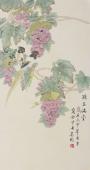 北京美协凌雪工笔花鸟画《珠玉满堂》