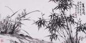 【已售】安徽萧县花鸟名家魏玉新四尺横幅《双清图》