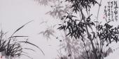 著名画家魏玉新四尺写意竹子《清风劲节》