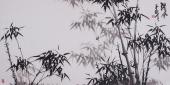 一级美术师魏玉新四尺横幅竹子图《清风》