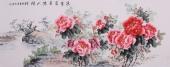 安徽美协会员云志六尺牡丹《迎春富贵满人间》