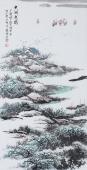 名家藏品 张春奇手绘原创作品《太湖春绿》