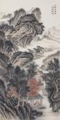 【询价】实力派画家王立芳四尺山水画《山明清风图》