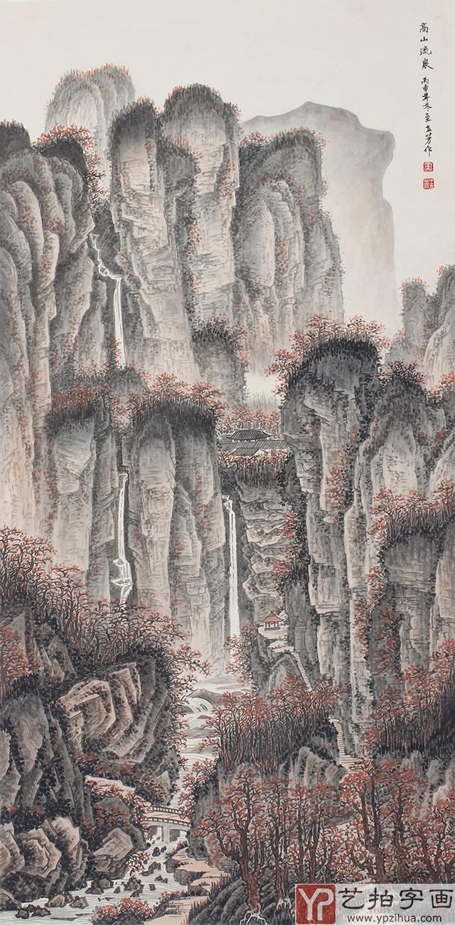 竖构现代水墨画