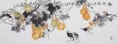 家居装饰画 石云轩小六尺写意国画葫芦《福禄图》