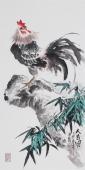 广西美协三尺竖幅花鸟画《大吉图》