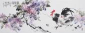 广西美协石云轩写意六尺精品国画《紫气东来》