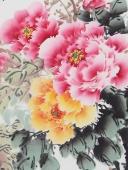 名家手绘牡丹 云志三尺写意国画牡丹《春和景明》