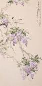 【询价】皇甫小喜四尺竖幅写意花鸟《紫气东来》
