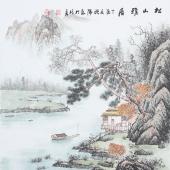 书画名家 欧阳四尺斗方写意山水画《松山雅居》
