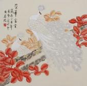 北京美协凌雪四尺斗方工笔花鸟画《荣华富贵》