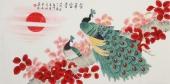 北京美协凌雪四尺横幅工笔花鸟画《荣华富贵》