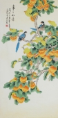 北京美协凌雪四尺竖幅工笔花鸟画《事事如意》