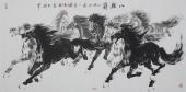 【已售】江南画马名家杨主旺四尺横幅八骏图《八骏图》