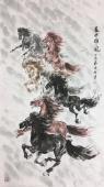 【询价】南京著名动物画名家 杨主旺四尺精品竖幅新品力作《盛世雄风》