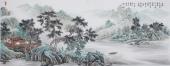 广西美协欧阳写意国画山水小六尺横幅《青山一路鸟无啼》