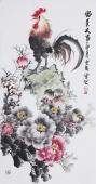 石云轩精品写意国画牡丹《富贵大吉》