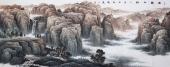 【已售】牛鸿亮 八尺精品山水画《巍巍太行》 河北著名山水画家