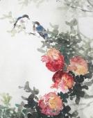 安徽美协云志写意花鸟画《喜乐多福》