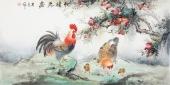 【已售】云志 四尺横幅写意花鸟画《和睦之家》