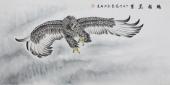河南著名动物画家郭凤丽 四尺工笔《鹏程万里》