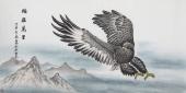 【已售】河南著名动物画家郭凤丽 四尺工笔《鹏程万里》