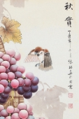 张琳 工笔斗方《秋实》 河北省美术家协会会员