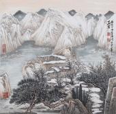 崔广同 精品斗方《玉岩》 高级工艺美术师