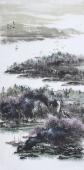 著名山水名家杨秀亮写意四尺山水画《春风》