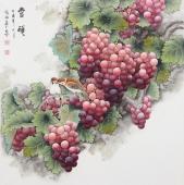 张琳 工笔斗方《丰硕》 河北省美术家协会会员