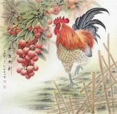【已售】张琳 工笔斗方《大吉大利》 河北省美术家协会会员