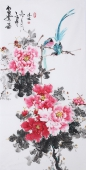 国家一级美术师王凌风 四尺竖幅《富贵图》