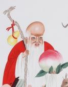 【已售】山东花鸟名家吕存德四尺工笔人物《福禄寿喜》