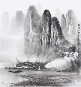 【已售】广西美协莫桂明 四尺斗方精品国画《轻烟淡雾绕迷蒙》