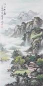 国礼艺术家周卡 四尺竖幅山水画《江山如画》
