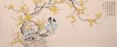 河北美协花鸟画名家皇甫小喜六尺横幅《国画梅花》