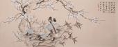 河北美协花鸟画名家皇甫小喜六尺《国画梅花》