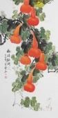 【已售】广西美协花鸟名家黄艺四尺竖幅《福禄临门》