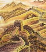 国家一级美术师周华小六尺长城《长城雄风》