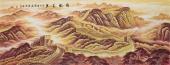 【已售】国家一级美术师周华小六尺长城《雄风万里》