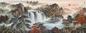 【已售】广西美协会员欧阳小六尺聚宝盆山水《福地生辉》