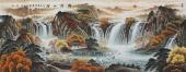 【已售】广西美协会员欧阳小六尺聚宝盆山水《锦绣山河》
