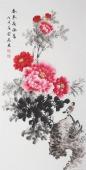 安徽美协云志四尺竖幅牡丹《春来花依旧》
