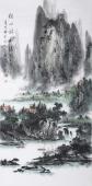 著名山水名家杨秀亮四尺竖幅《空山新雨后》