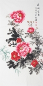 安徽美协云志四尺竖幅《花开富贵》