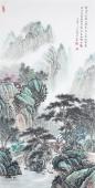 【已售】广西美协会员欧阳四尺竖幅小写意山水