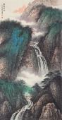 【已售】中国美术家协会山水名家张哲礼四尺竖幅山水《林壑云霓》