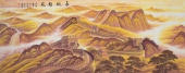 国家一级美术师周华小八尺长城字画《长城雄风》