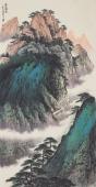 美术家协会山水名家张哲礼四尺竖幅《空谷听音》